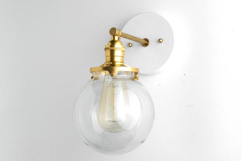 Globe en applique salle de bain de lumière Edison applique | Etsy