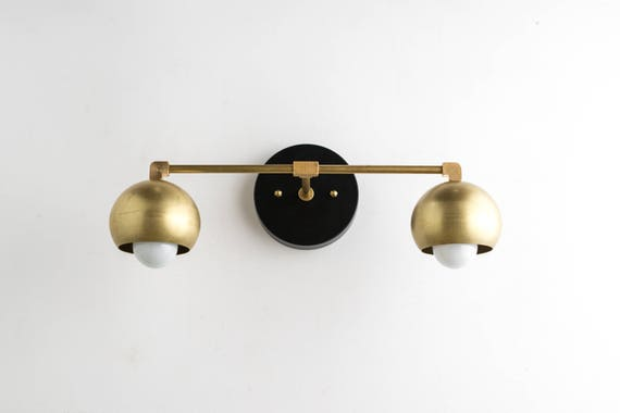 Gold Vanity Lights Bathroom Lamp Mid Century Bathroom Etsy