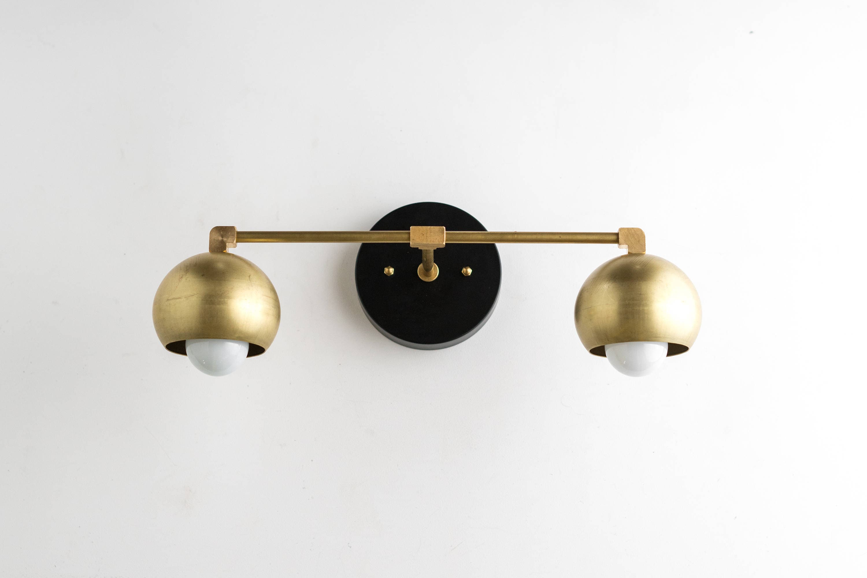 Gold vanity lights bathroom lamp mid century bathroom brass black vanity mid century modern fixture