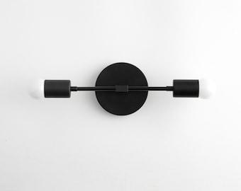 Black Vanity Light  - Mid Century Sconce - Black Modern Light - Wall Light - Bathroom Lighting - Modern Lighting - Model No. 5563