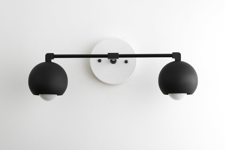 Modern Vanity Black Wall Light Bathroom, Modern Bathroom Light Fixtures Black And White