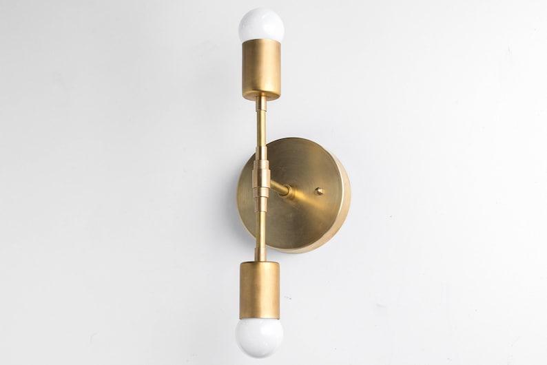 Mid Doré En Bougeoir Light Murale Laiton Or Century Applique Luminaire Moderne QxodrBeCW