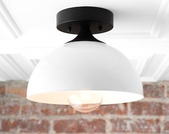 White Ceiling Light - Ceiling Fixture - Mid Century Lighting - Modern Light Fixture - Farmhouse Lighting - Ceiling Light Model 8510