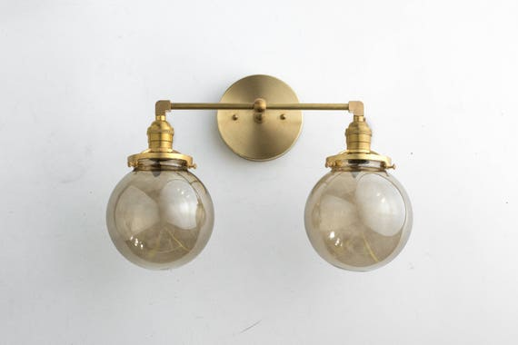 Bathroom Light Fixture Vanity Lamp Brass Vanity Smoked