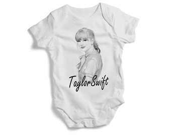 d20f2ba34 Stylish baby bodysuit music TAYLOR SWIFT on baby bodysuit colourful Toddler  Tee baby bodysuit tshirt bandana pullover bib baby shower gif