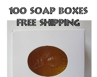 100 White Soap Boxes - Brand New with Free Shipping - Soap Box