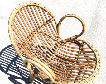 Rattan arm chair for kid