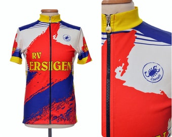 vintage CASTELLI  RV Ersigen  Swiss Team cycling biker Top racing jersey  size L large 80s 90s ITALY L Eroica 2ff6186c8