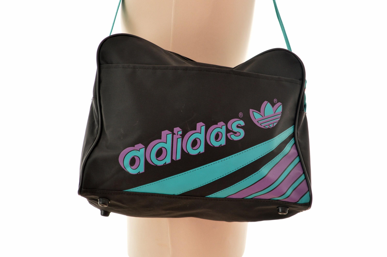 4bbd7609faf7 80s neon Adidas Shoulder BAG   messenger bag   cross body bag
