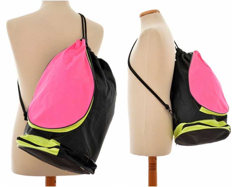 4aa9f3c4bb 80s 90s neon RUCKSACK   Backpack with racket holder   pink