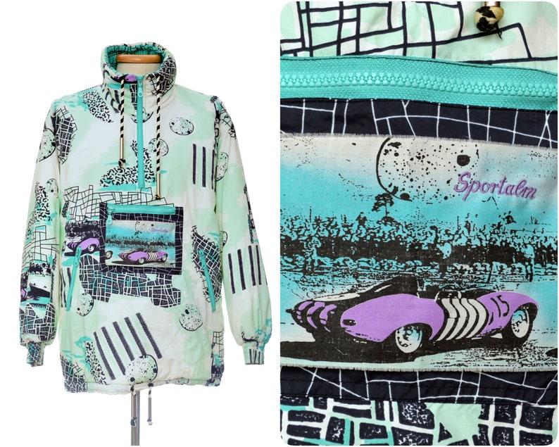 d3fc9a3fee 80s rad neon SKI JACKET womens by Sportalm   part ski suit