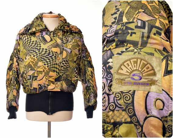 Designer Ski Clothing   Womens 80s Designer Ski Jacket By 5th Avenue Part Ski Suit Etsy