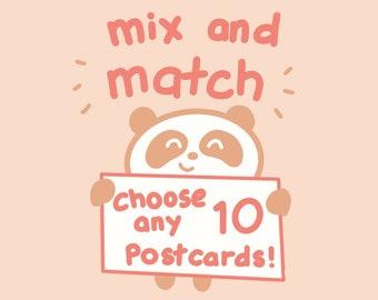 Mix and Match TEN Postcards!