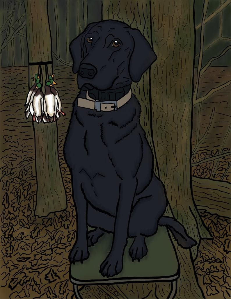 Dog pet portrait Digital illustration Dog memorial Personalized pet portrait Pet loss gift Gift for Dog lovers or pet lovers.