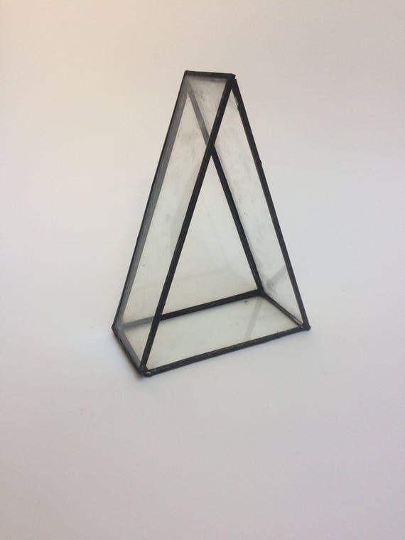 Geometric Terrarium Terrarium Triangle Terrarium Glass Etsy