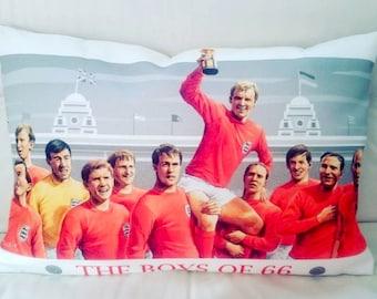 The boys of '66 cushion
