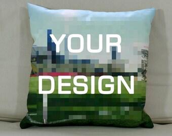 "Cushion: Your design (Large - 22"" square)"