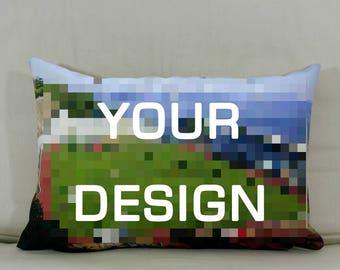 """Cushion: Your design (Landscape - 19""""x13"""")"""