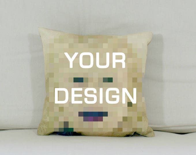 "Cushion: Your design (Medium - 17"" square)"