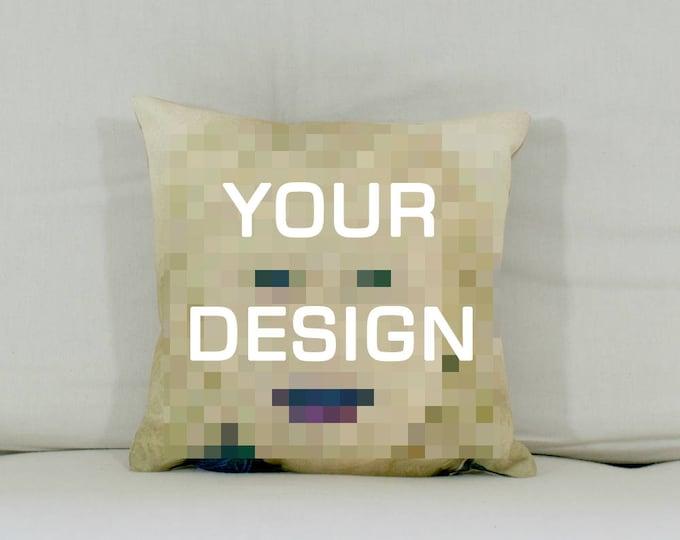 """Cushion: Your design (Medium - 17"""" square)"""