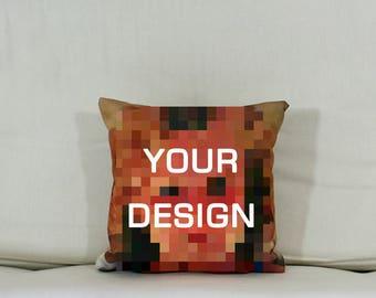 "Cushion: Your design (Small - 11"" square)"