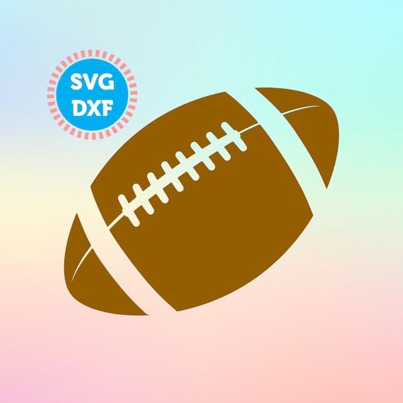 Football Svg Dxf Files Football Silhouette Football Cut Etsy
