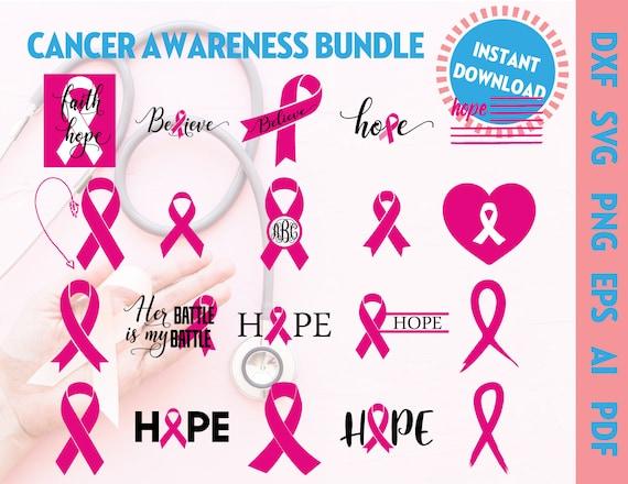 Cancer Awareness Bundle Svg Breast Cancer Svg Bundle Breast Etsy