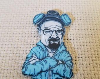Walter White Breaking Bad inspired Acrylic Needle Minder, Needle Nanny, Needle Keeper, Cross Stitch, Refrigerator Magnet
