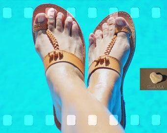 Greek leather sandals, Greek handmade leather sandals,T-Strap leather sandals,women leather sandals,THAIS