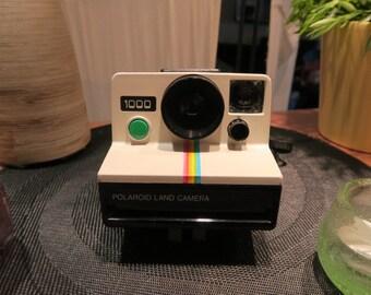 appareil photo instantané polaroid 1000 sx70 bouton vert tres bon etat