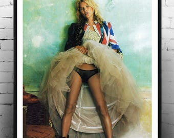 Kate Moss, Fashion print, photography, Gift for her, large format,  Model, Print, Gift , Fashion print, Kate Moss
