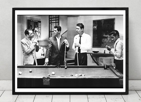 The Rat Pack Frank Sinatra Dean Martin Sammy Davis Jr Peter Lawford