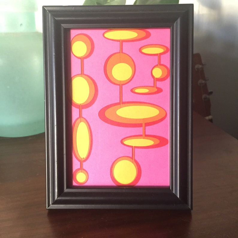 Sunsets. Retro mid century modern style hand made paper cut image 0
