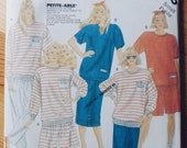 McCall 39 s 3105 Vintage Uncut Pattern - 80s Ribbed Top, Skirt, Pants, Shorts - Miss Size Small - Camp Beverly Hills