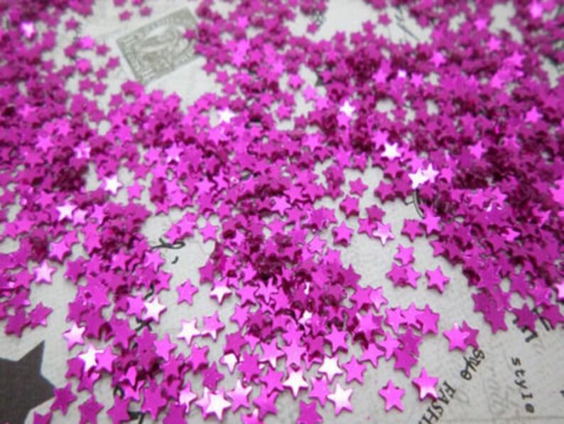 USA Seller Craft Supplies 2000 pcs 2000 Sparkling Rose Purple Star Loose Sequins 3mm