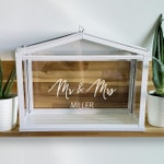 Personalized Wedding Card Box Vinyl Decal | Mr & Mrs Sign Decal | Wedding Card Box Sticker | Ikea Greenhouse Card Box Sticker