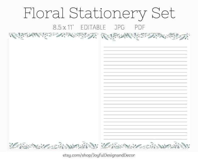 Floral Stationery Stationery Gift Set Stationery Set Blank Stationery Printable Paper Journal Paper Floral Paper Printable Paper