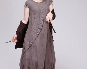 21b411533df Boho pure linen dress