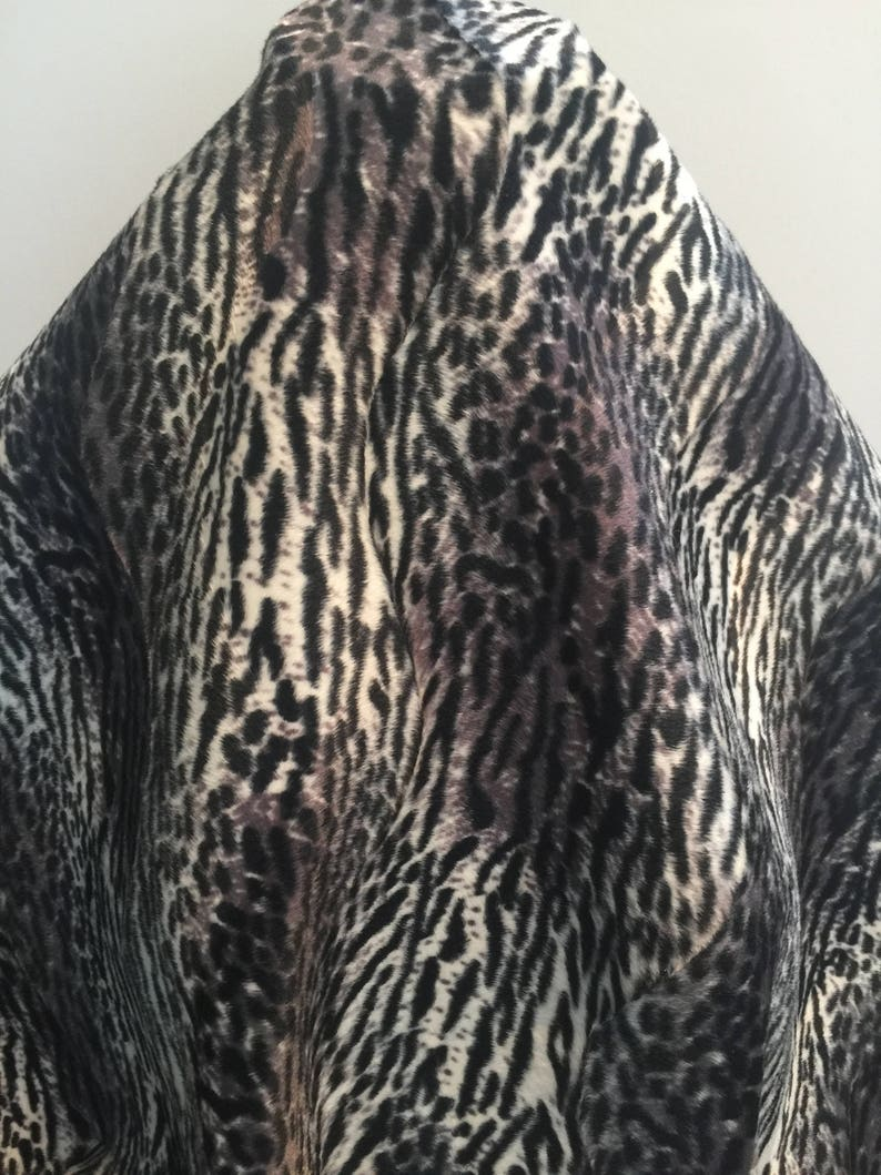 Sold by the Yard 17-279 Jaguar Inspired Animal Faux Fur
