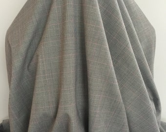 17-447 Fine Gray Plaid Suiting- Sold by the Yard