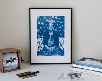 Frida Cyanotype Portrait