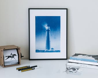 Vintage Cyanotype Portrait