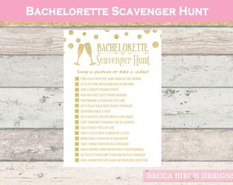 Bachelorette Scavenger Hunt - Nashlorette - Hen Night - Hen Do Game - Bachelorette Games - Drinking Games - Printable - Instant Download