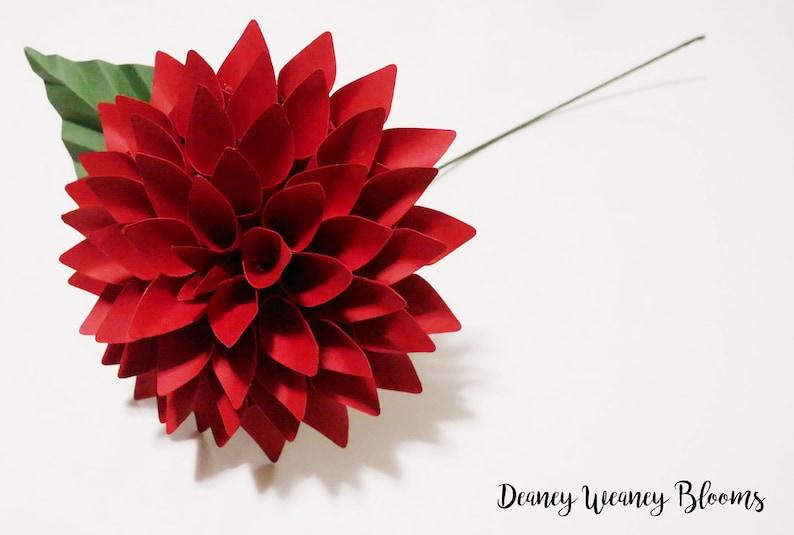 Paper Flower Dahlia Svg Pdf Template Bouquet Size Diy Digital Paper Flower Pattern Downloadable Cricut Cameo Silhouette Cut File Wedding