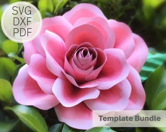 3-4 inches Paper Rose Template  SVG, DXF & PDF  Template  Cricut and Cameo Silhouette  Paper Flower DiY