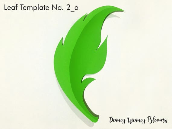 Svg And Pdf Printable Digital Leaf Template 2 2 Kinds Cricut And Print Ready Adjustable