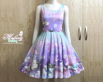 9c3079712e The cotton candy sheep (pastel) - Cute kawaii skater dress