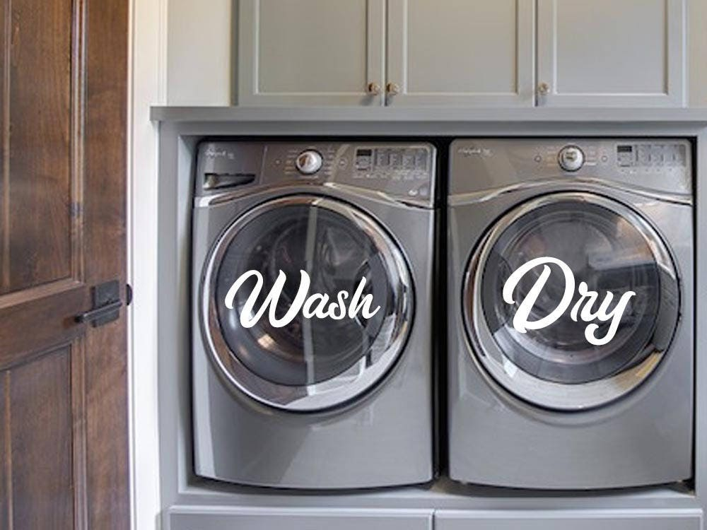 zoom wash and dry decal for washer