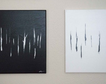 Through The Trees (diptych)