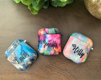 monogram AirPods Case AirPods Case with Keychain Case for AirPods Airpod Cover Airpods Pouch Airpods Holder Case Wireless Earphones Carrying